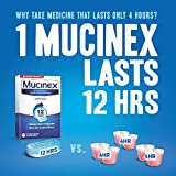 Mucinex 12 Hr Maximum Strength Chest Congestion Relief with Guaifenesin 1200 mg, Expectorant Tablets, 14 Count
