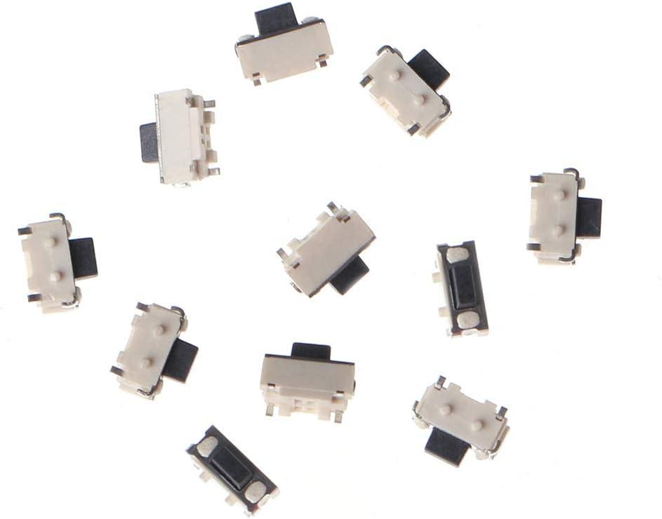 PENG 10 Pcs 1 Set Bouton-Poussoir Tactile lat/éral Micro SMD SMT Tact Switch 2x4x3.5mm