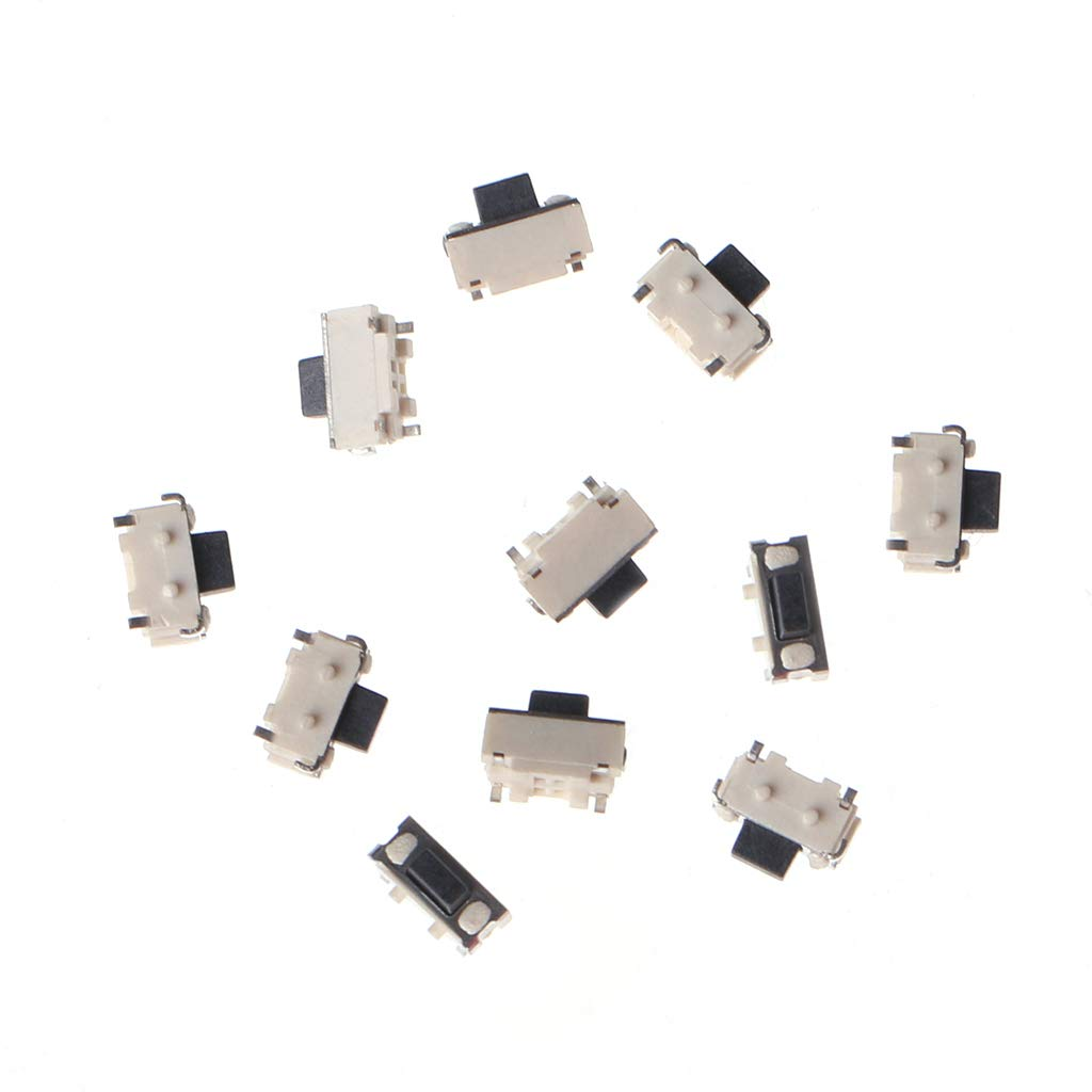 1 Set Lato tattile Pulsante Micro SMD SMT Interruttore tattile JOYKK 10 Pezzi Bianco Nero