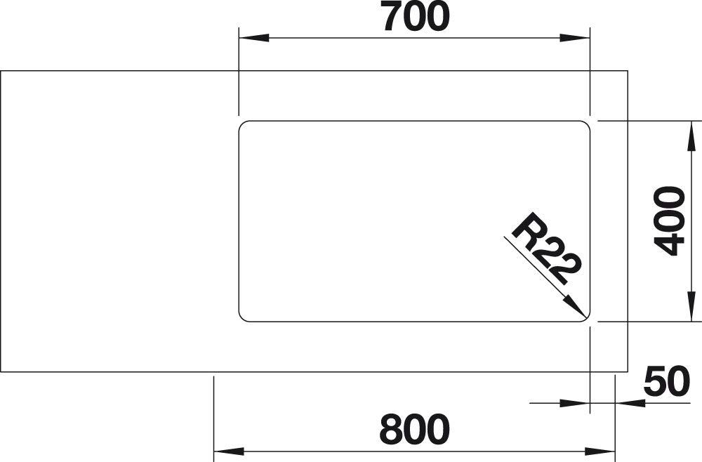 BLANCO 522971/Andano de 700/U brillante acier inoxydable