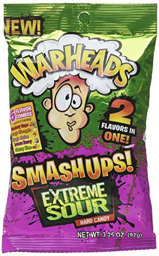 - Warheads Smashups Extreme Sour Hard Candy 3.25oz Bag