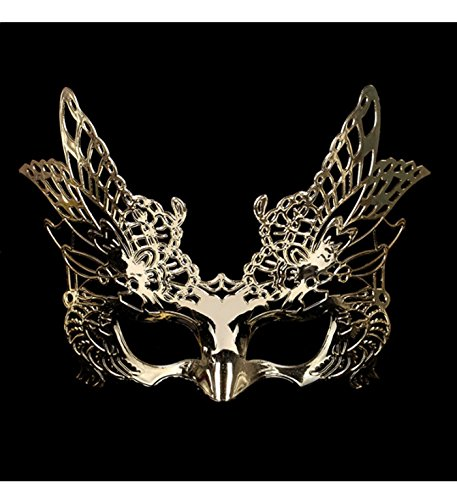 micrkrowen Halloween party cosplay mask animals Hawks plating plastic Kamen (Gold) (Hawk Girl Costumes)