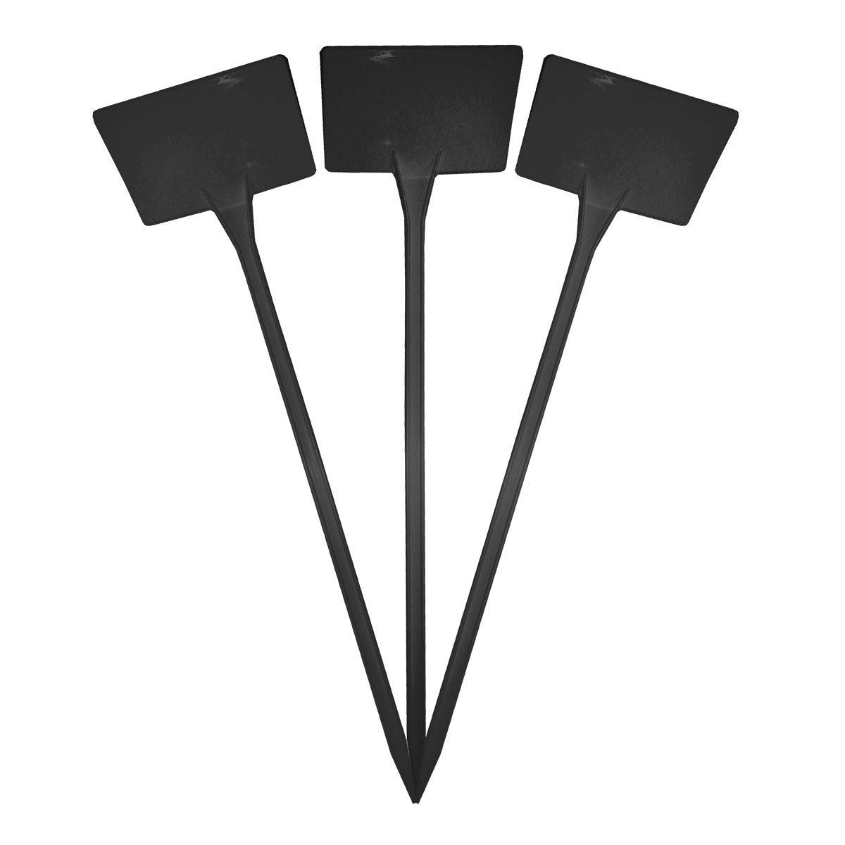 Elixir Gardens ® Plastic Stick In Angle Head Plant Pot Labels | 38cm Black x 40