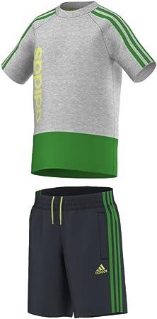 guión genio Abstracción  adidas verano Conjunto de camiseta + pantalón para bebés, niño, gris, 104:  Amazon.es: Deportes y aire libre