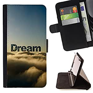 BullDog Case - FOR/Sony Xperia Z2 D6502 / - / dream clouds awe nature sky god hope /- Monedero de cuero de la PU Llevar cubierta de la caja con el ID Credit Card Slots Flip funda de cuer