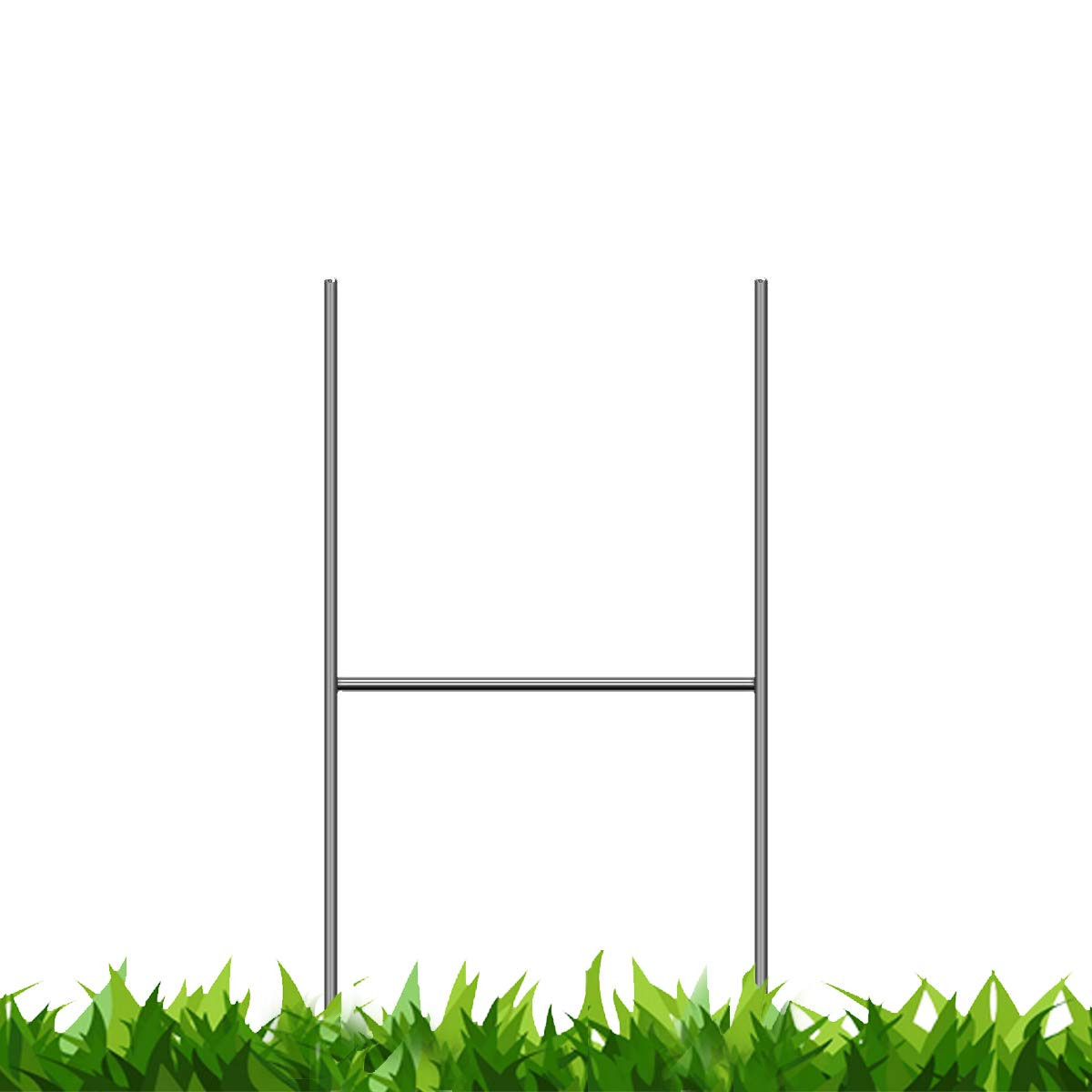 Bundled Pack of 100 Quantity Heavy Duty Metal 15-inch H-Stakes''H'' Frame Wire Stakes - Yard Sign Stake - Use with 4mm or 5mm Corrugated Signs by Vibe Ink (Image #1)