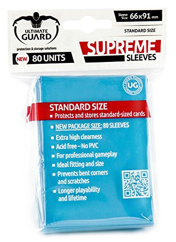 Amazon.com: Ultimate Guard Supreme Light Blue Sleeves(80 ...