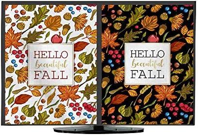 Funda de TV Hello Autumn. Dibujo a Mano Hojas de otoño Marco de Dibujo Elementos de diseño Tarjeta de Regalo diseño Vector ilustración: Amazon.es: Electrónica