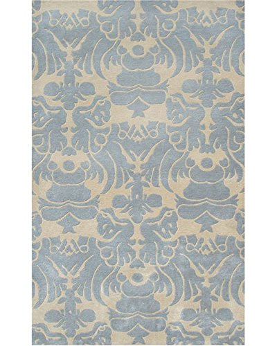 Ivory//Blue The Rug Market Venice Plush Floor Rug 16 x 27 16 x 27 ababy 44260S