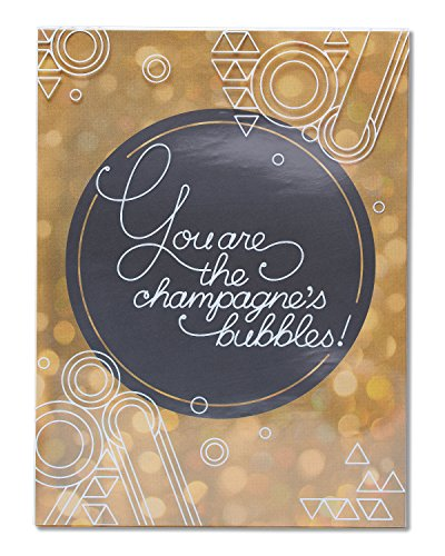 American Greetings Funny Champagne's Bubbles Birthday Card ()