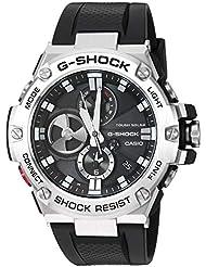 Casio Men's 'G-Shock' Quartz Resin Dress Watch, Color:Black (Model: GST-B100-1ACR