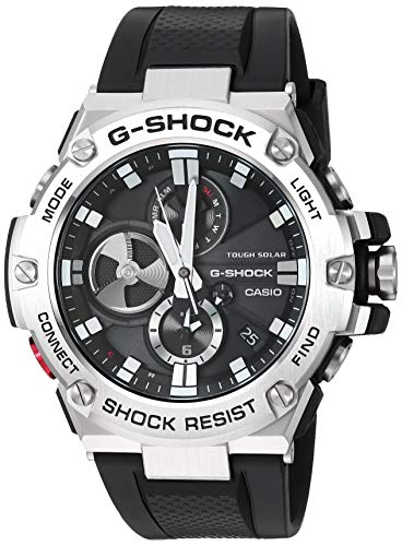 Casio Men's 'G-Shock' Quartz Resin Dress Watch, Color:Black (Model: GST-B100-1ACR