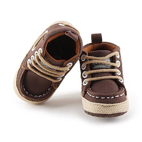 Luerme Zapato de Primer Paso Zapato deportivo de niños Zapato de cuatro estación Marrón
