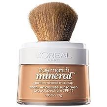L'Oreal Paris True Match Naturale Mineral Foundation, SPF 19 Sunscreen Face Powder, Natural Beige