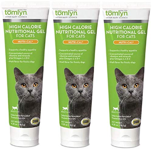 Nutri-cal for Cats High Calorie Dietary Supplement, 4.25-ounce Tube (Pack of 3) by Nutri-Cal