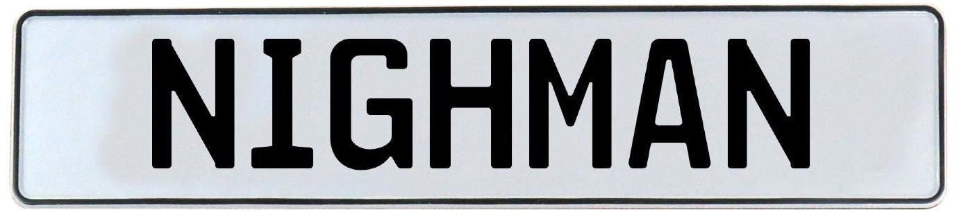 Nighman White Stamped Aluminum Street Sign Mancave Vintage Parts 716622 Wall Art