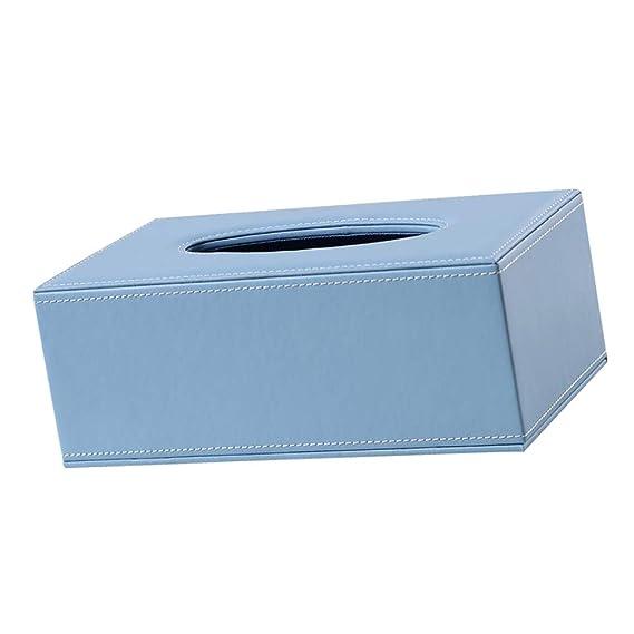 Blau D DOLITY Kosmetiktuecherbox Taschentuchspender Kosmetiktuch Box Taschetuch Aufbewahrungsbox