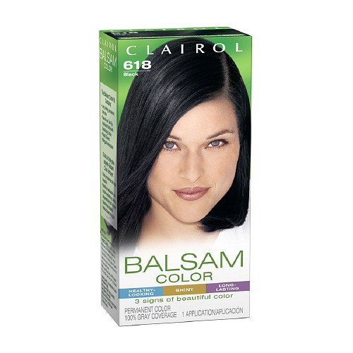 Nice Clairol Balsam Color Liquid Haircolor, Black 618 1 system hot sale