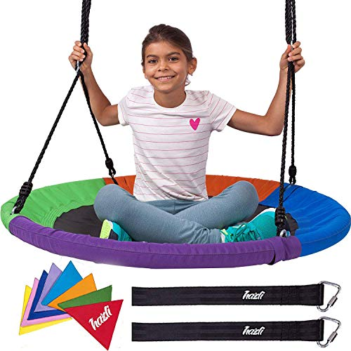 (Outdoor Round Tree Swing for Kids - 40