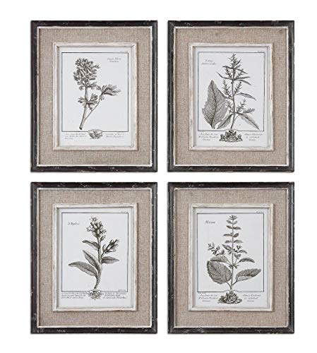 Uttermost Casual Grey Study Framed Wall Art - Set of 4-14W x 18H in.