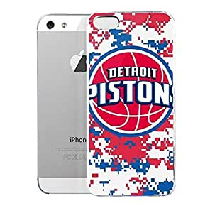 Light weight with strong PC plastic case for Iphone 5/5s Sports & Collegiate NBA Detroit Pistons Detroit Pistons Digi Camo