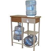 Despachador de Agua Doble con Canastilla y Llave, color Beige