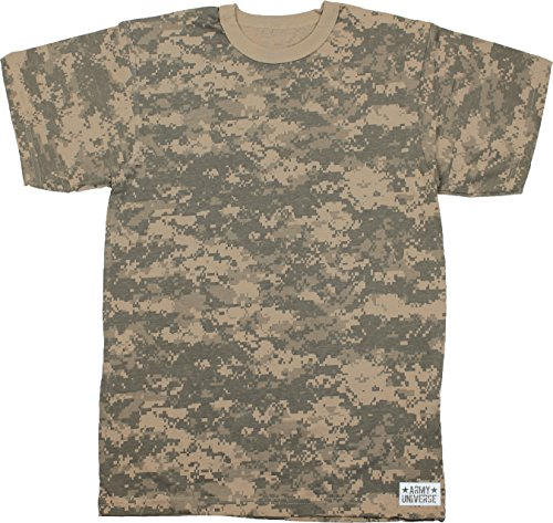Army Universe ACU Digital Camouflage Short Sleeve T-Shirt with Pin - Size Large (41