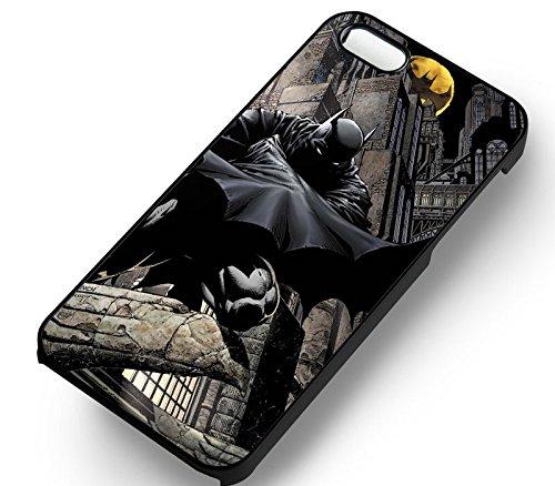 Unique Batman Hero pour Coque Iphone 5 or Coque Iphone 5S or Coque Iphone 5SE Case (Noir Boîtier en plastique dur) W1R6GC
