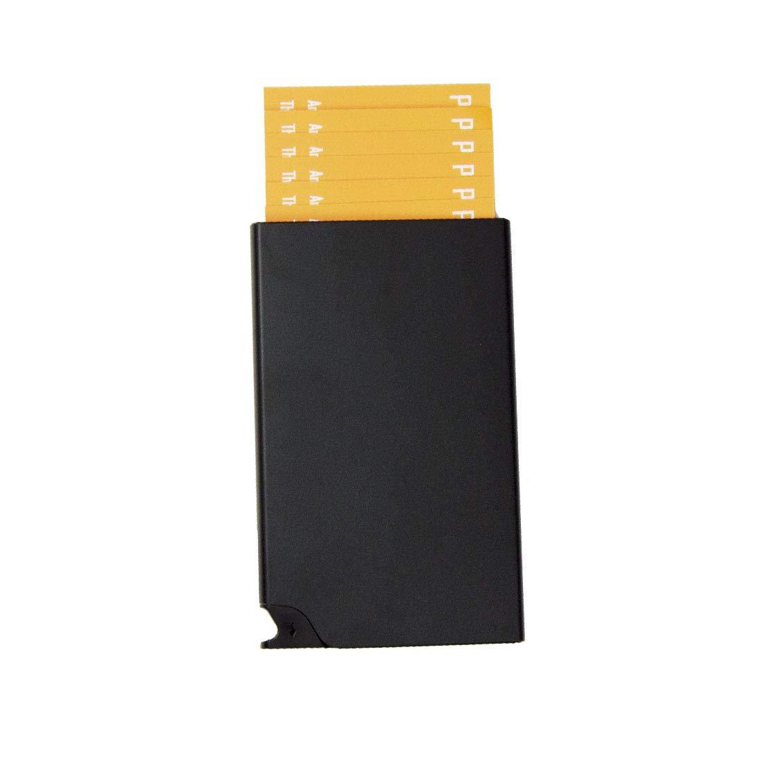 Kartenetui Herren Visitenkartenetui Portemonnaie Geldklammer Portmonee Damen Geschenk für Männer Frauen klein Mini Geldbörse Kartenhüllen Brieftasche Kreditkarten Etuis RFID/NFC Schutz Schwarz