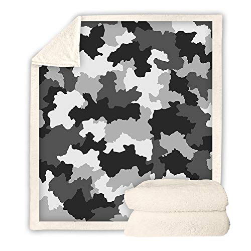 URVIP Camouflage Printed Throw Blanket Home Comfortable Warm Fluffy Blanket BZ-125H L (Furniture Buy Melbourne Outdoor)