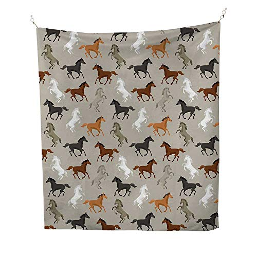 - Horseswall Tapestry for bedroomAbstract Stallions Simple Design Equestrian Animals Galloping Curvet Illustration 51W x 60L inch Beach tapestryMulticolor