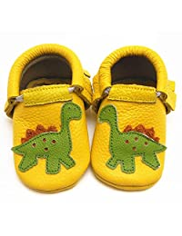 Sayoyo Baby Cute Dinosaur Soft Sole Leather Baby Shoes Baby Moccasins