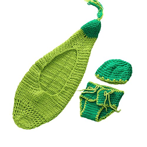 Baby Outfits Knitted Hat Pea in a Pod Costume with Hat Clothes Photography Props - 2 Peas In A Pod Costumes