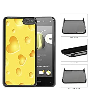 Yellow Cheese Heart Shapes Hard Plastic Snap On Cell Phone Case Amazon Fire