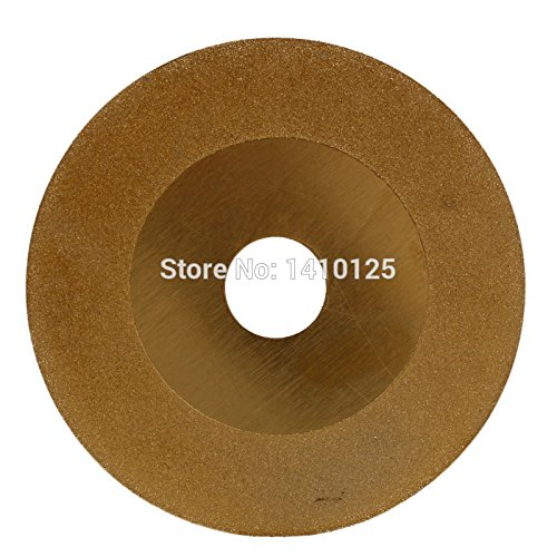 Cut Marble Tile - JOINER 4 inch Diamond Coated FLAT Cutting Disc Grinding Wheel for Angle Grinder TITANIUM Grit 150 Glass Marble Tile Granite Ceramics
