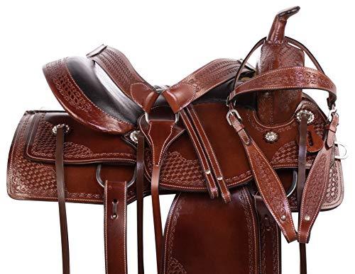 AceRugs Pleasure Trail Comfy CUSH Memory Foam SEAT Western Leather Horse  Saddle TACK Bridle REINS Breastplate (16)