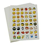 Pack of 16 Sheets Emoji Sticker Die Cut Stickers