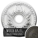 Ekena Millwork CM18GAWHC Granada Ceiling Medallion, Witch Hazel Crackle