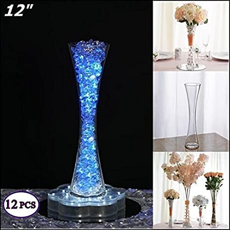 Amazon Efavormart 12 Tall Clear Hourglass Shaped Floral Vase