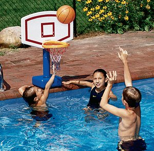Swimline Jamming Molded Poolside Basketball by Swimline
