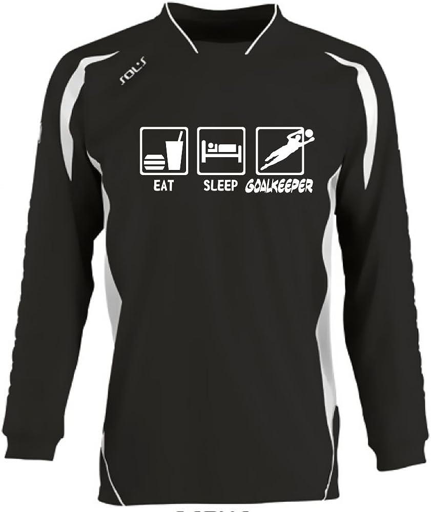 Coole-Fun-T-Shirts TORWARTTRIKOT mit Deinem Namen S M L//XL XXL Deiner Nummer EAT Sleep Torwart Trikot Kids 6-8 Jahre 10-12 Jahre