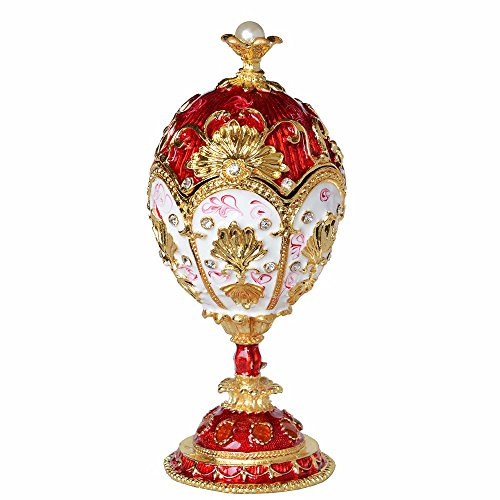 Minihouse Hand Painted Hinged Russian Style Faberge for sale  Delivered anywhere in USA