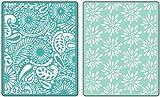 Daisy Blast & Paisley Palooza Set Textured Impressions Embossing Folders (Sizzix)