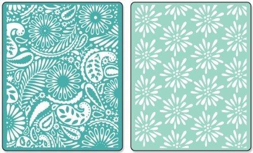 Sizzix Embossing Folders Dena Designs Textured Impressions Daisy Blast & Paisley Palooza - Ellison Design Embossing Folders