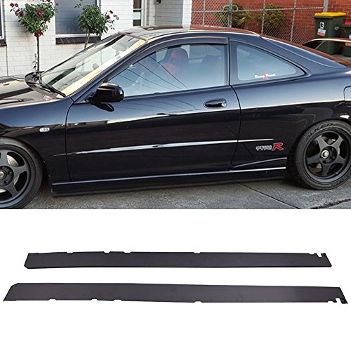 1998 1999 2000 Bottom Line Style Black PP Sideskirt Rocker Moulding Air Dam Chin Diffuser Bumper Lip Splitter by IKON MOTORSPORTS Side Skirts Fits 1997-2001 Acura Integra