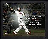 """David Ortiz Boston Red Sox MLB Pro Quotes Photo (Size: 9"""" x 11"""") Framed"""