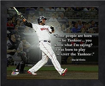 Boston Quotes Interesting Amazon David Ortiz Boston Red Sox MLB Pro Quotes Photo Size 48