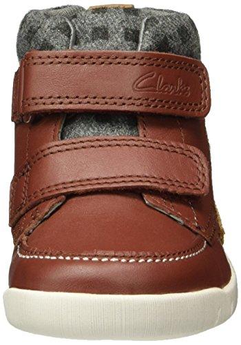Clarks Jungen Crazy Ben Fst Kurzschaft Stiefel Braun (Brown Leather)
