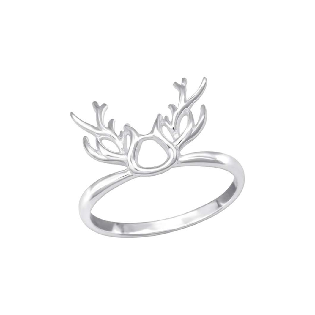 Polished and Nickel Free Antler Plain Rings 925 Sterling Silver Liara