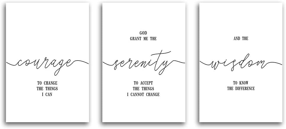 """HPNIUB Inspirational Quote&Saying Typography Art Print Set of 3 (12""""X16"""" Canvas Painting,Motivational Phrases Wall Art Poster for Living Room Home Decor,No Frame"""